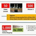 Telkomsel Poin 50 Paket Umroh dan 500 Iphone 5 Tanpa Diundi