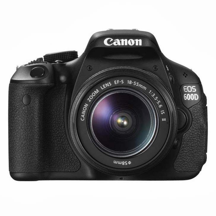 Canon EOS 600D Lensa Kit 18-55mm + 55-250mm IS II ? 18 MP ? Hitam