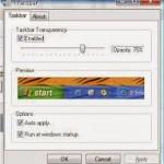 Cara Modifikasi Tampilan Windows XP dengan Transbar 1.2